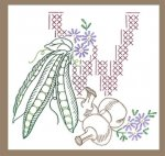 AB7219 Cross Stitch & Outline Veggies for towels DOW