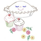 AB-7478 6 Happy Helper Designs for Towels and Cloths