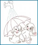 SP169 Darling Dog Duo Kitchen Towels