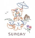 KM-2456 Kitty Keeps Busy - Day of the Week Designs