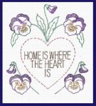 AB7237 Home God Bless Sweet Heart Castle Best Floral