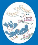 AB6668 Cross Stitch DOW Blue Birds