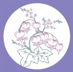 LW582 Pansies Lilacs and Bleeding Hearts Flower Designs
