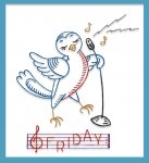 CC578 Broadcasting Birds Singing Day of the Week DOW