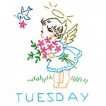 KM-212 Angel Darlings - 7 Day of the Week Designs