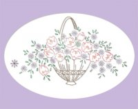 AB7208 Birds Florals Baskets