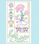 AB7282 12 Flower Bithday Cards