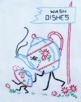 V237 Animated Kitchen Motifs Vintage Vogart Embroidery