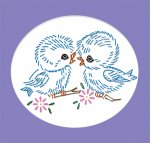 AB7421 24 Sweet Bird & Animal Motifs for Children Baby