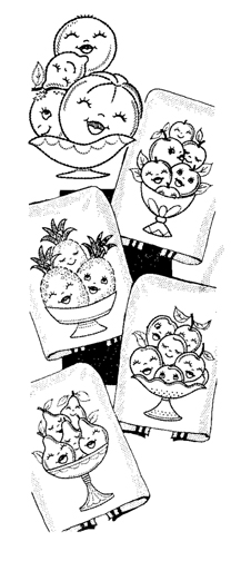 AB-7228 Happy Fruit Bowls - Click Image to Close
