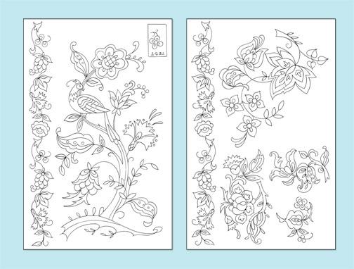 V104d Floral Bird Crewel Jacobean Elizabethan V104d Stitchin