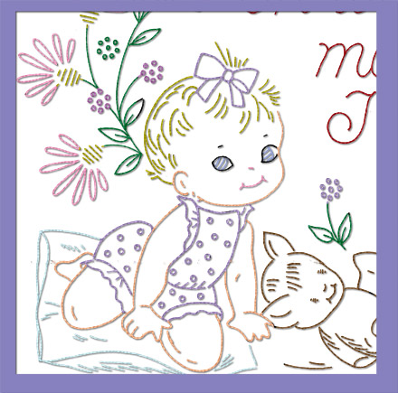 AB7478XL Now I Lay Me – Child's Prayer Girl Quilt XL
